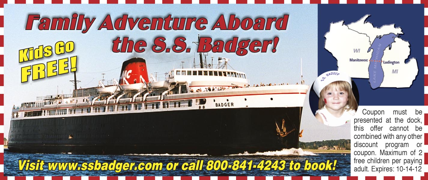 Ferry coupons ss badger